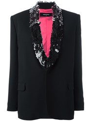 Dsquared2 Sequin Layer Lapel Blazer Black