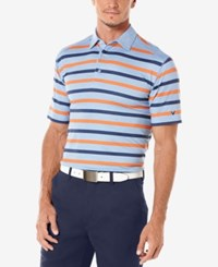 Callaway Men's Golf Performance Heather Striped Golf Polo Provence Blue