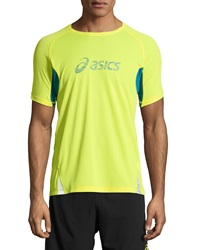 Asics Fuji Trail Graphic Tee Electric Lime