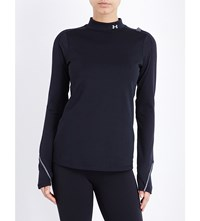 Under Armour Coldgear Elements Stretch Jersey Top Black