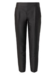 Giambattista Valli Duchess Satin Cropped Trousers