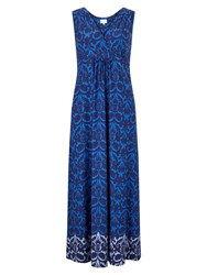East Ikat Jersey Maxi Dress Blue