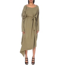 Anglomania Draped Crepe Dress Green