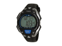 Timex Ironman Road Trainer Heart Rate Monitor Black Silver Tone Blue Resin Strap Watch Black Silver Blue Watches