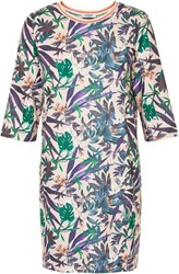 Soaked In Luxury Tropical Print Shift Dress Multi Coloured