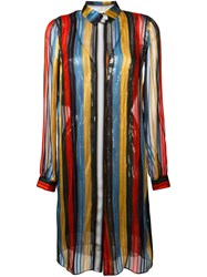Marco De Vincenzo Striped Shirt Dress Multicolour