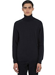 Ami Alexandre Mattiussi Merino Wool Roll Neck Sweater Black