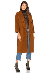 Line And Dot Wren Maxi Coat Cognac