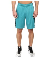 Nike Elite Stripe Short Rio Teal Heather Black Metallic Silver Men's Shorts Blue