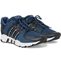 Adidas Originals White Mountaineering Eqt Running Support '93 Suede Trimmed Primeknit Sneakers Navy
