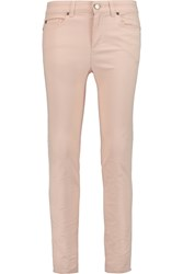 Alexander Mcqueen Mid Rise Straight Leg Jeans Nude