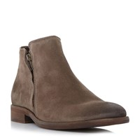Bertie Collie Double Zip Casual Boots Taupe