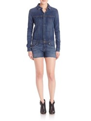 Hudson Lane Denim Romper Aviator