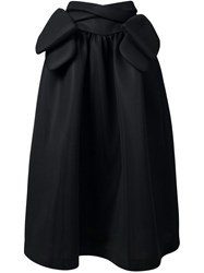 Simone Rocha Bow Detail Maxi Skirt Black