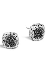 John Hardy Women's 'Classic Chain' Small Square Stud Earrings Black Sapphire