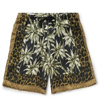 Dries Van Noten Piper Printed Voile Shorts Black