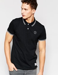 Jack And Jones Jack And Jones Twin Tipped Polo Black