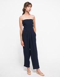 Objects Without Meaning Tie Back Jumpsuit Navy