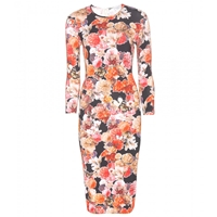 Givenchy Floral Printed Midi Dress Multicolored