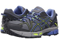 Asics Gel Kahana 8 Aluminum Black Flash Yellow Women's Running Shoes Gray