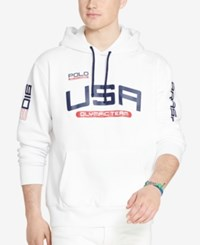 Polo Ralph Lauren Men's Team Usa Fleece Hoodie Pure White