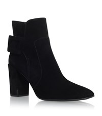 Roger Vivier Polly Suede Ankle Boots Female Black