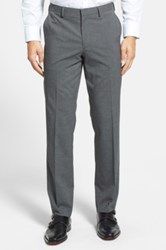 Calibrate Flat Front Houndstooth Trousers Gray
