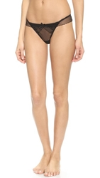 Myla Dainty Embroidery Thong Black