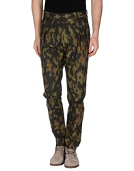 Dries Van Noten Casual Pants Military Green