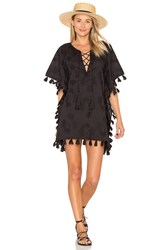 Seafolly Embroidered Caftan Black