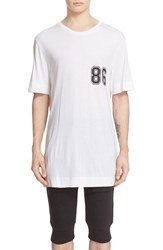 Helmut Lang Men's Oversize Short Sleeve Graphic T Shirt
