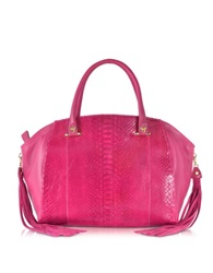 Ghibli Pink Python And Leather Tote W Fringe Tassel