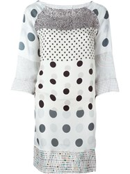 Pierre Louis Mascia Pierre Louis Mascia Mixed Print Dress White