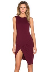 Blaque Label Asymmetrical Mini Dress Wine