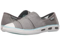 Columbia Vulc N Vent Slip Light Grey Candy Mint 1 Women's Slip On Shoes Gray