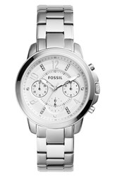Fossil Women's 'Gwynn' Chronograph Bracelet Watch 38Mm Silver White