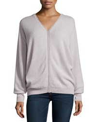 Autumn Cashmere V Neck Dolman Sleeve Cashmere Sweater Women's Bone