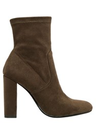 Steve Madden 100Mm Stretch Microfiber Ankle Boots