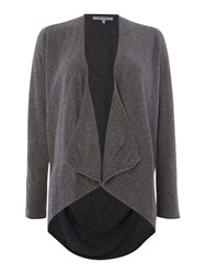 La Fee Maraboutee Long Sleeved Loose Fit Cardigan Grey