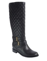 Kate Spade Sutton Quilted Leather Boots Black
