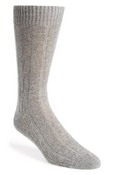 Men's John W. Nordstrom Cable Knit Socks Grey Pale Grey