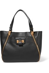 Tom Ford Sedgewick Medium Textured Leather Tote Black