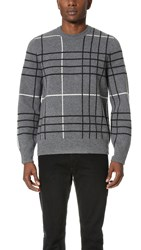 Rag And Bone Shan Crew Sweater Medium Grey