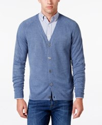 Weatherproof Vintage Men's Big And Tall Soft Touch Cardigan Only At Macy's Denim Marl