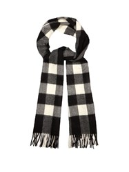 Burberry Checked Cashmere Scarf Black Multi