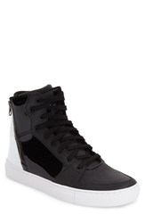 Men's Creative Recreation 'Adonis' Sneaker Black White Patent