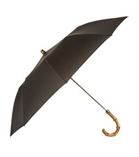London Undercover Whangee Handle Telescopic Umbrella Unisex Black