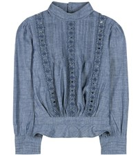 Citizens Of Humanity Josie Chambray Blouse Blue