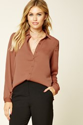 Forever 21 Contemporary Satin Shirt