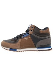 Pepe Jeans Tinker Hightop Trainers Tobacco Brown